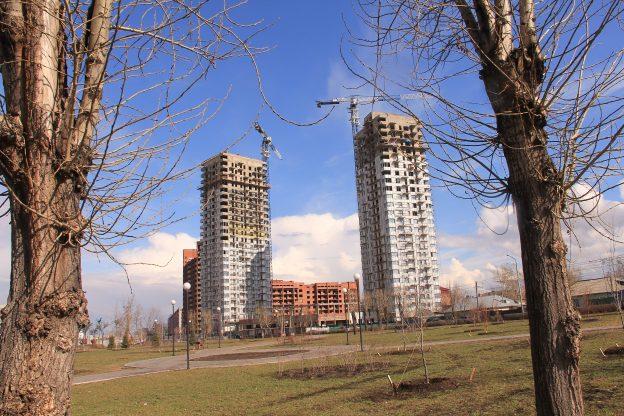 ход строительных работ на площадке ЖК «Параллели» по состоянию на 5 мая 2016г.